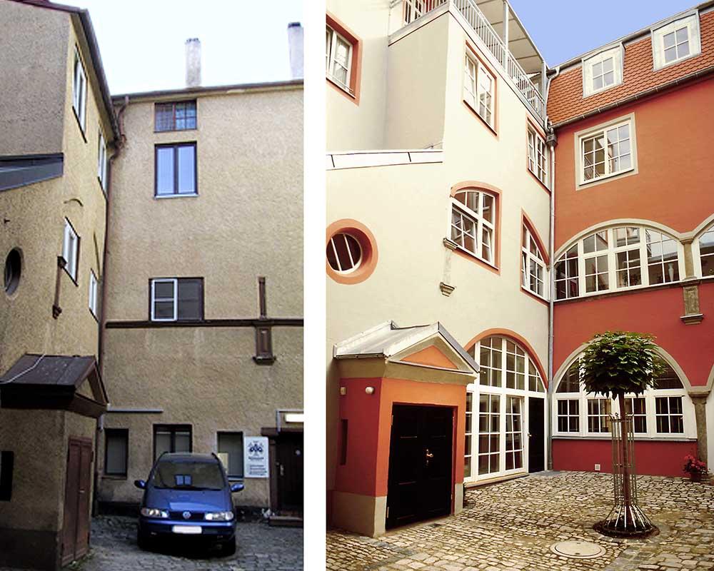 sanierung wohnhaus in regenburg altstadt nowak und. Black Bedroom Furniture Sets. Home Design Ideas